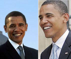 obama greying hairs
