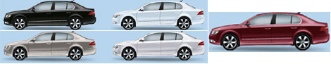 skoda superb colors