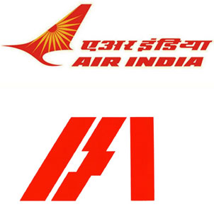 air India and Indian airlines logo
